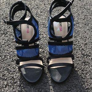 JustFab black and blue heels